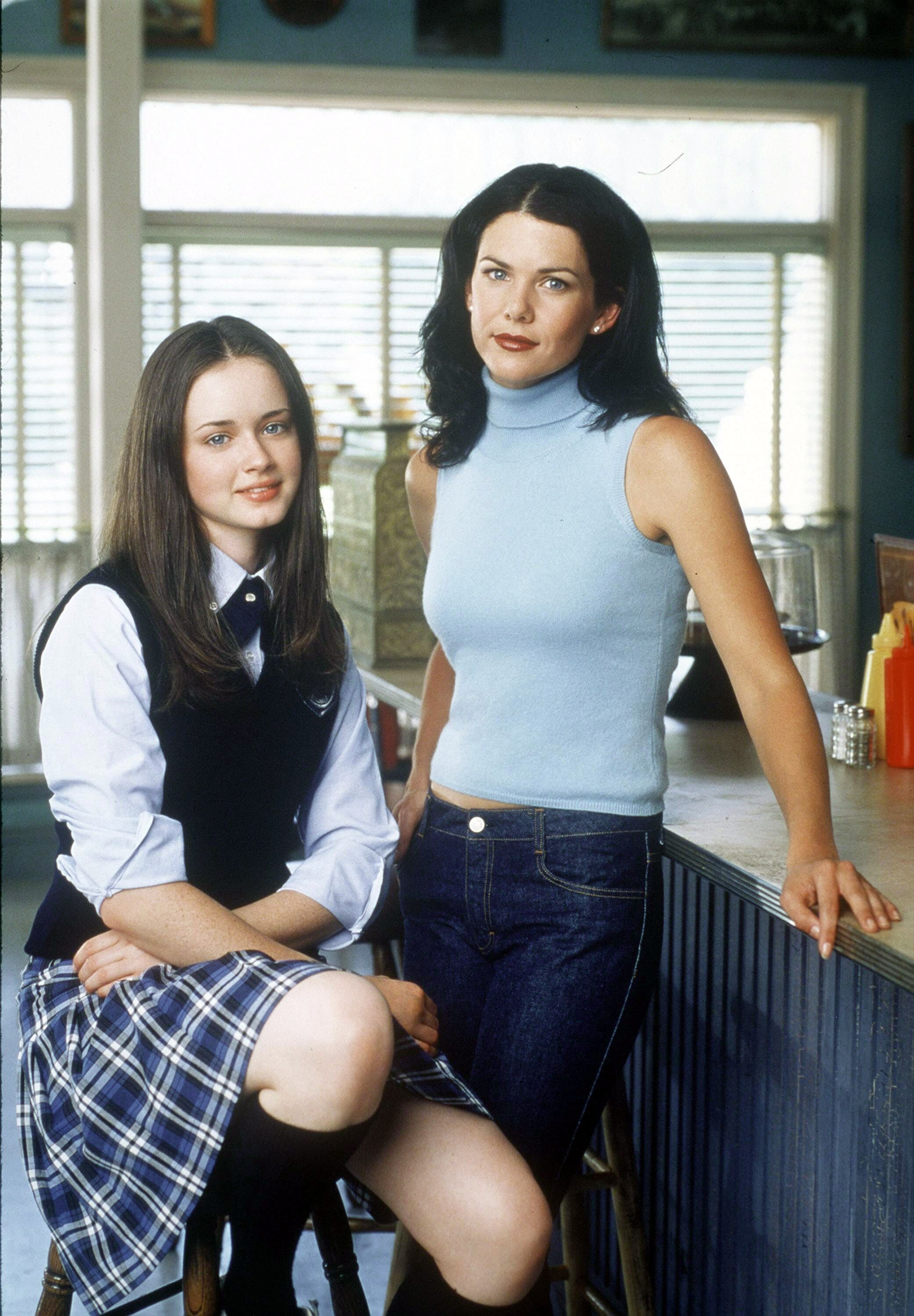 "Alexis Bledel and Lauren Graham star in Warner Bros. TV series ""The Gilmore Girls."" 