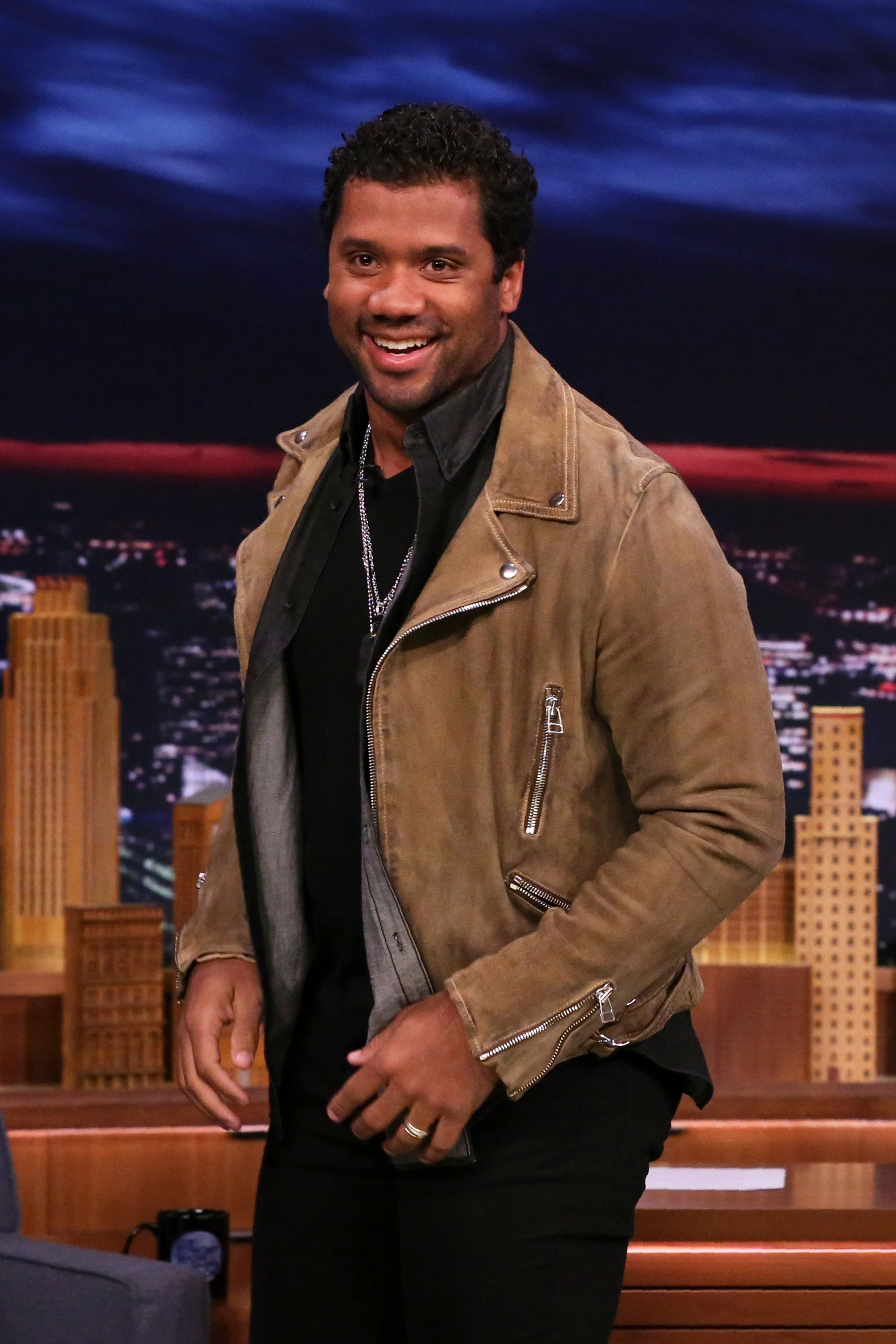 """Russell Wilson on """"The Tonight Show"""" on March 15, 2019. 