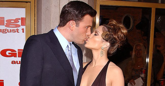 """Ben Affleck and Jennifer Lopez arriveat the premiere of """"Gigli""""in Los Angeles on July 27, 2003 