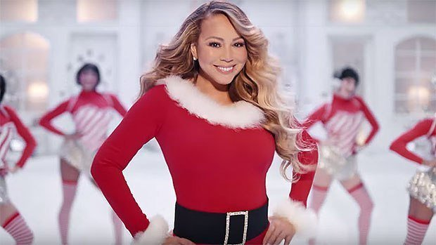 "Mariah Carey in her new video for her classic ""All I Want for Christmas""/ Source: YouTube/ Mariah Carey"