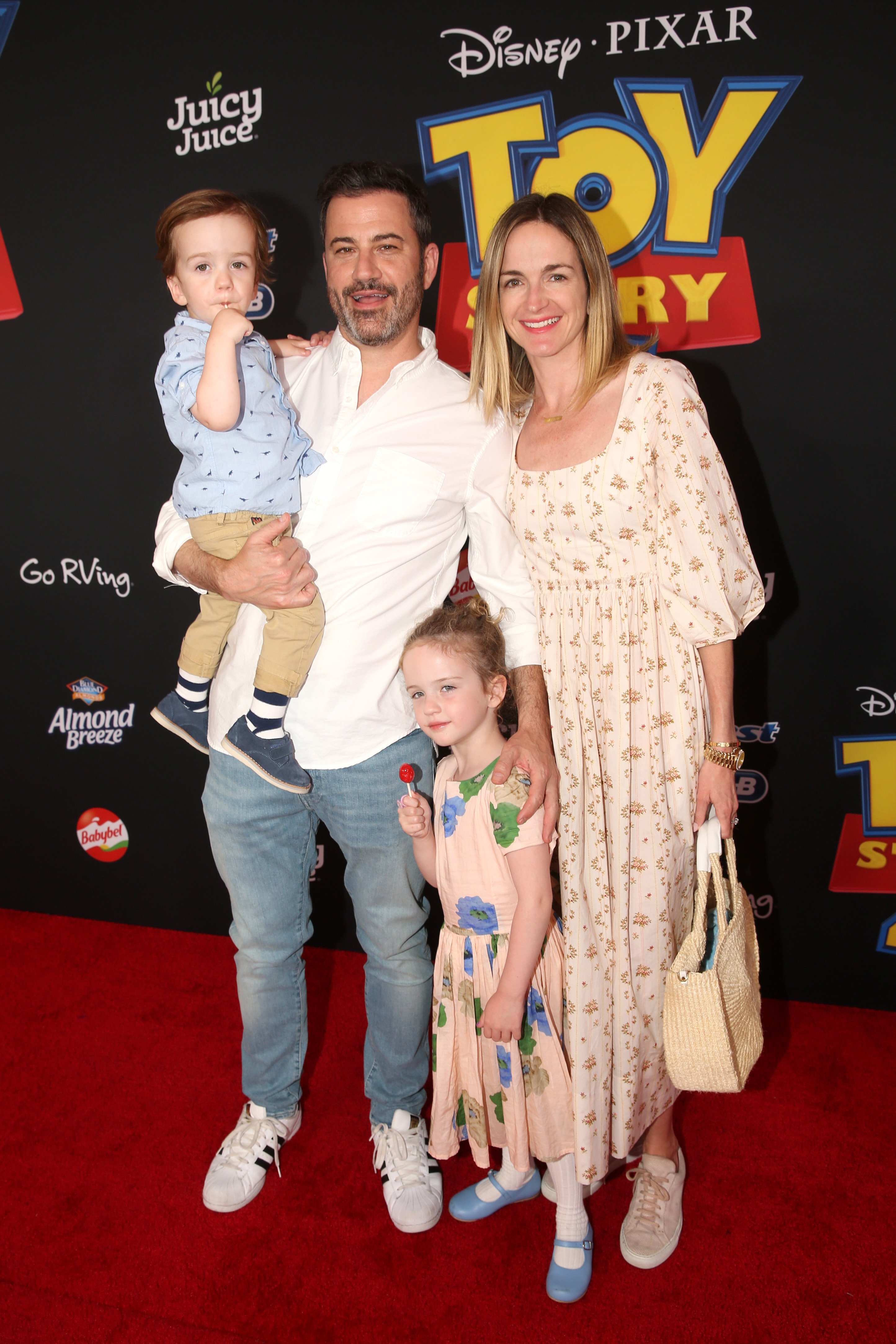 Jimmy Kimmel & Family on 'Toy Story 4' Premiere Red Carpet | Photo: Getty Images