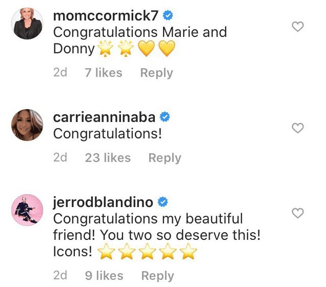 Comments under Marie Osmond's instagram post   Photo: Instagram/ Marie Osmond