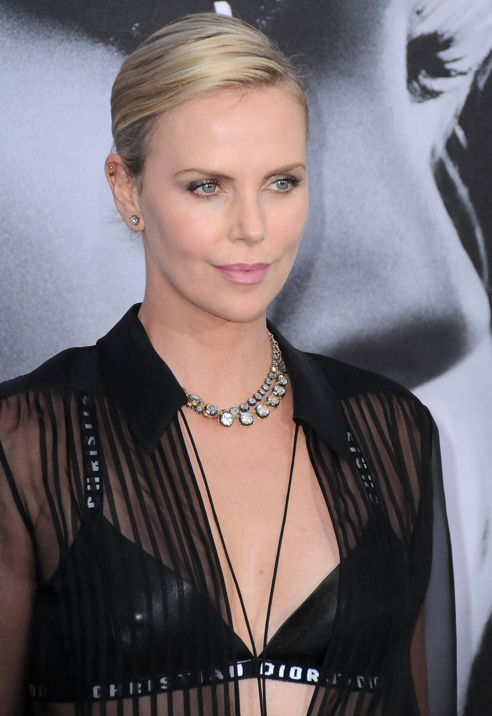 "Charlize Theron at the premiere of ""Atomic Blonde"" in July 2017. 