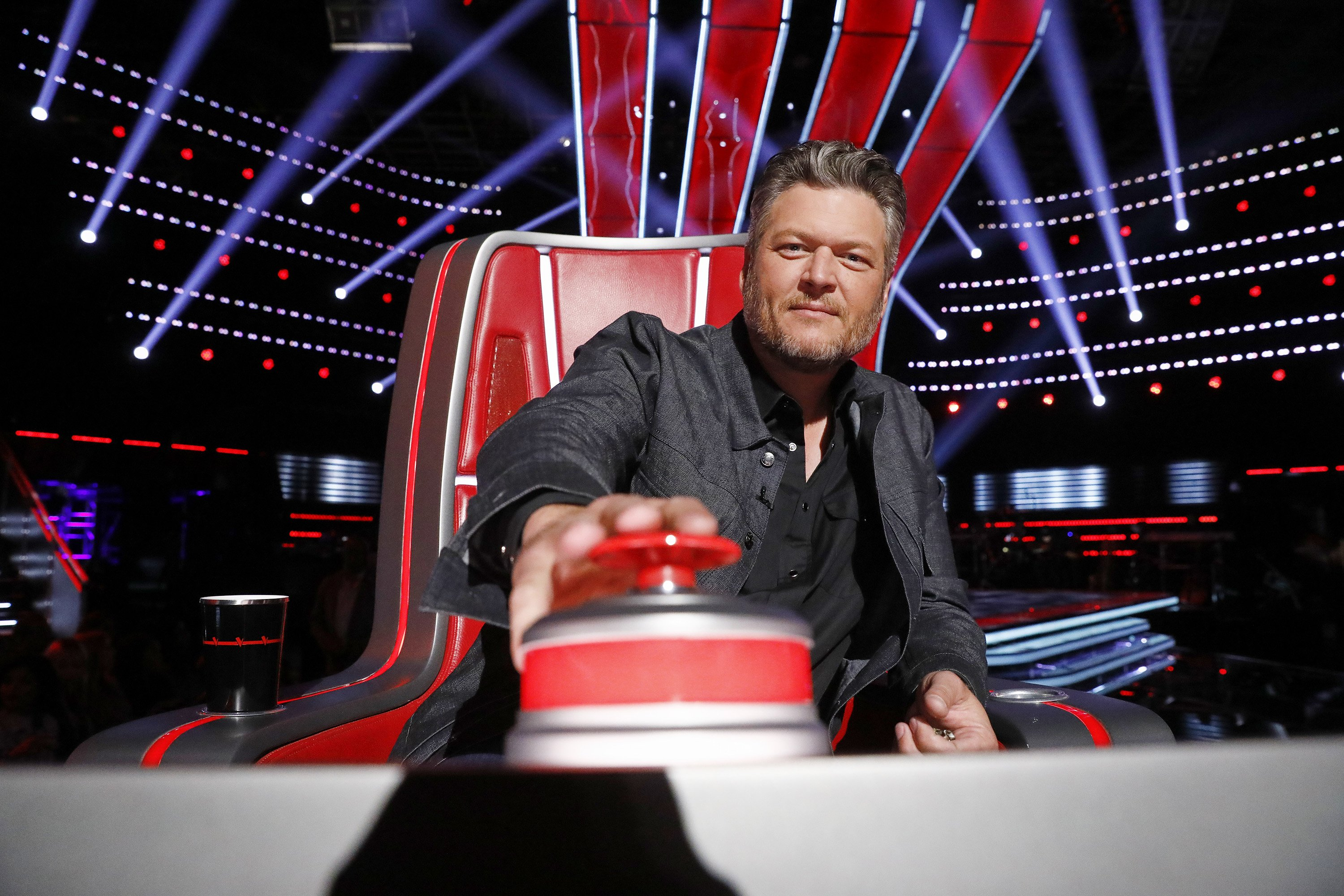 """Blake Shelton during the blind auditions of the 18th season of """"The Voice."""" 