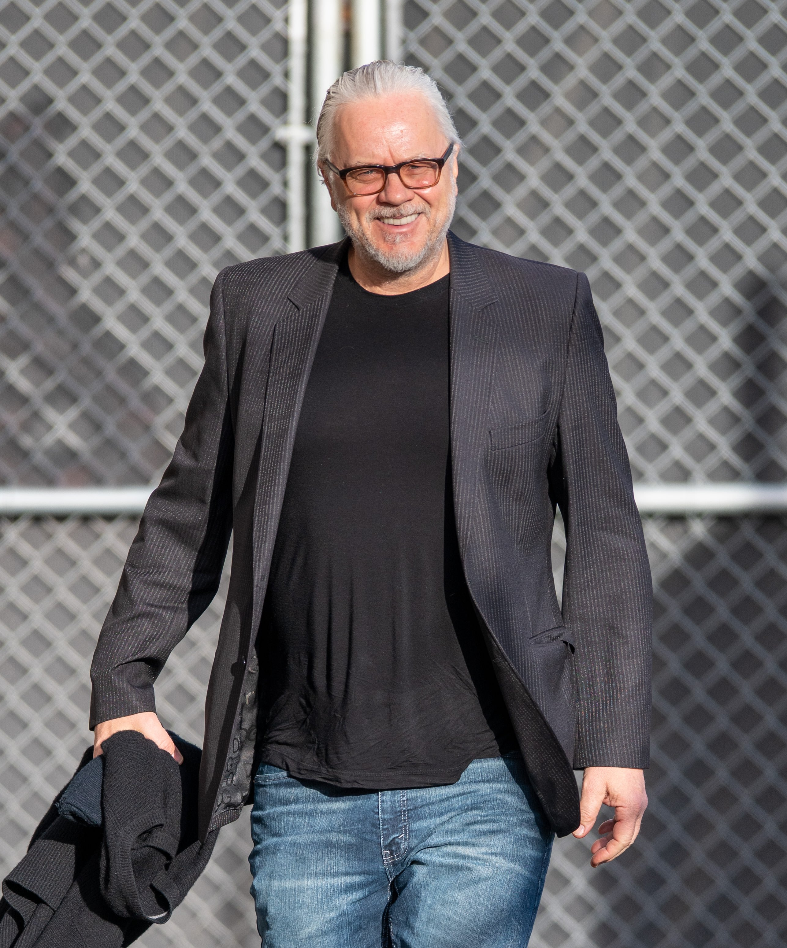 Tim Robbins spotted at Jimmy Kimmel Live, March, 2020.   Photo: Getty Images.