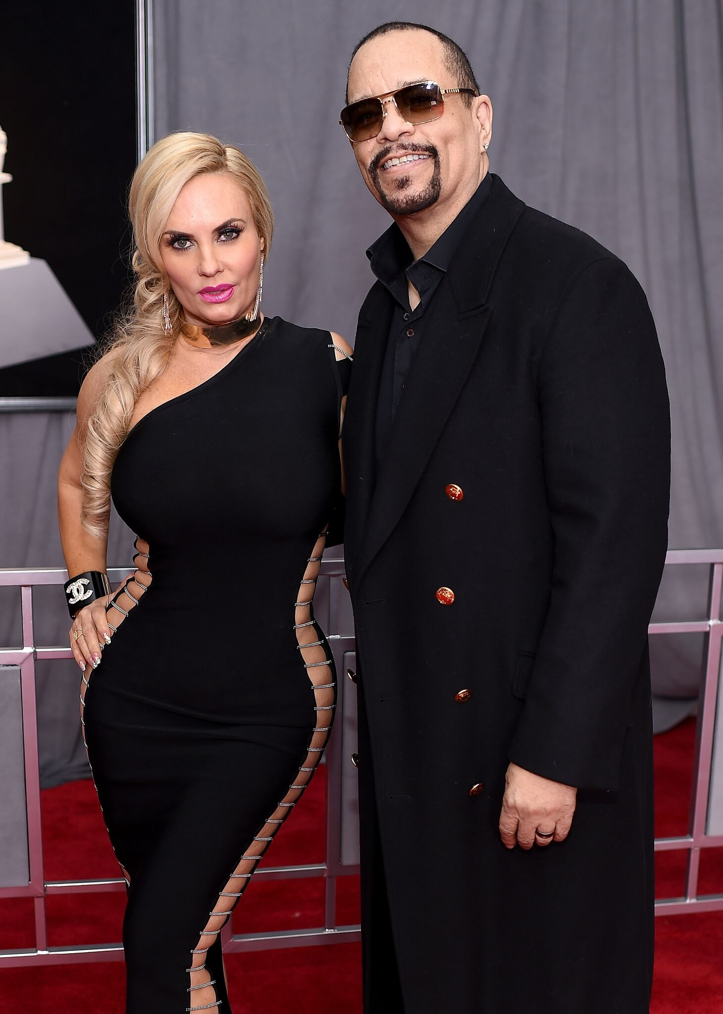 Coco Austin and recording artist Ice-T attend the 60th Annual GRAMMY Awards at Madison Square Garden | Getty Images