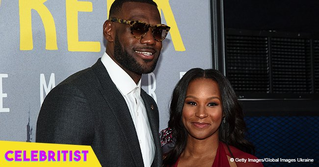 5e70cbac2185 LeBron James melts hearts with a picture   sweet message for his wife s  32nd birthday