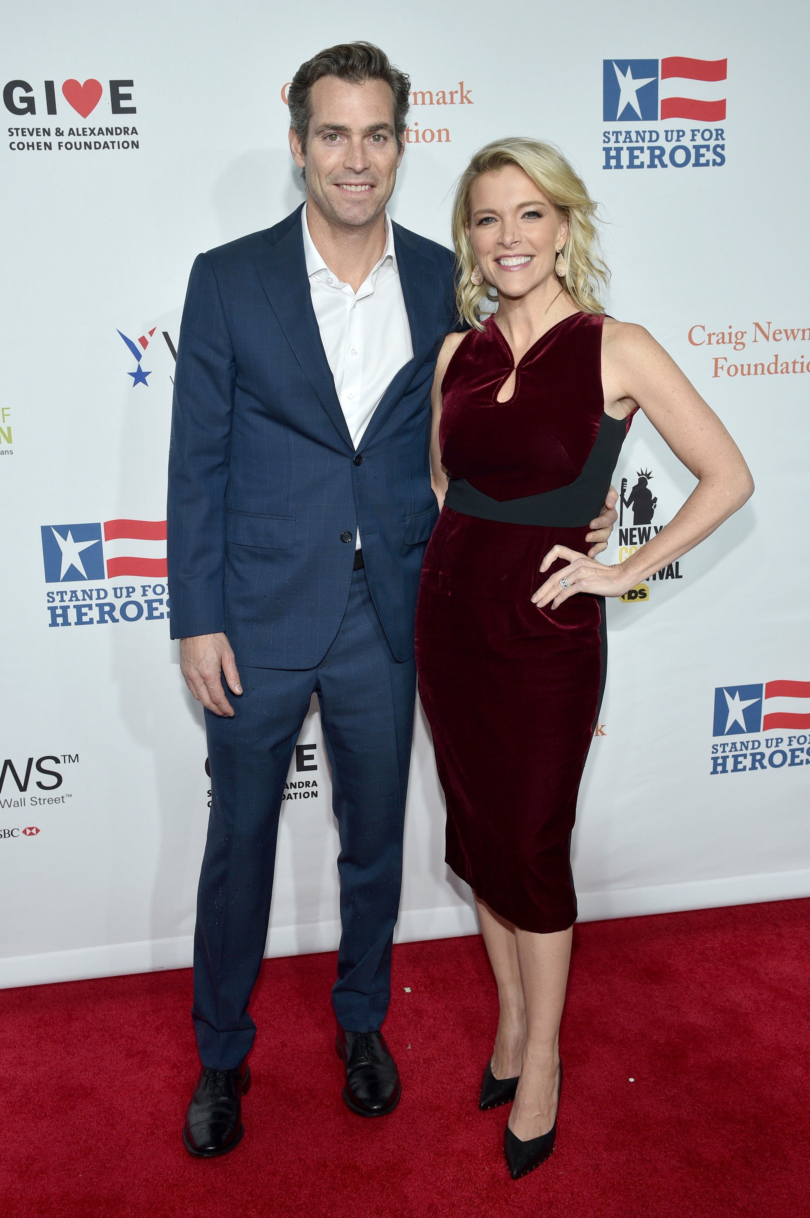 Douglas Brunt and Megyn Kelly attend the 11th Annual Stand Up for Heroes Event on November 7, 2017, in New York City. | Source: Getty Images.