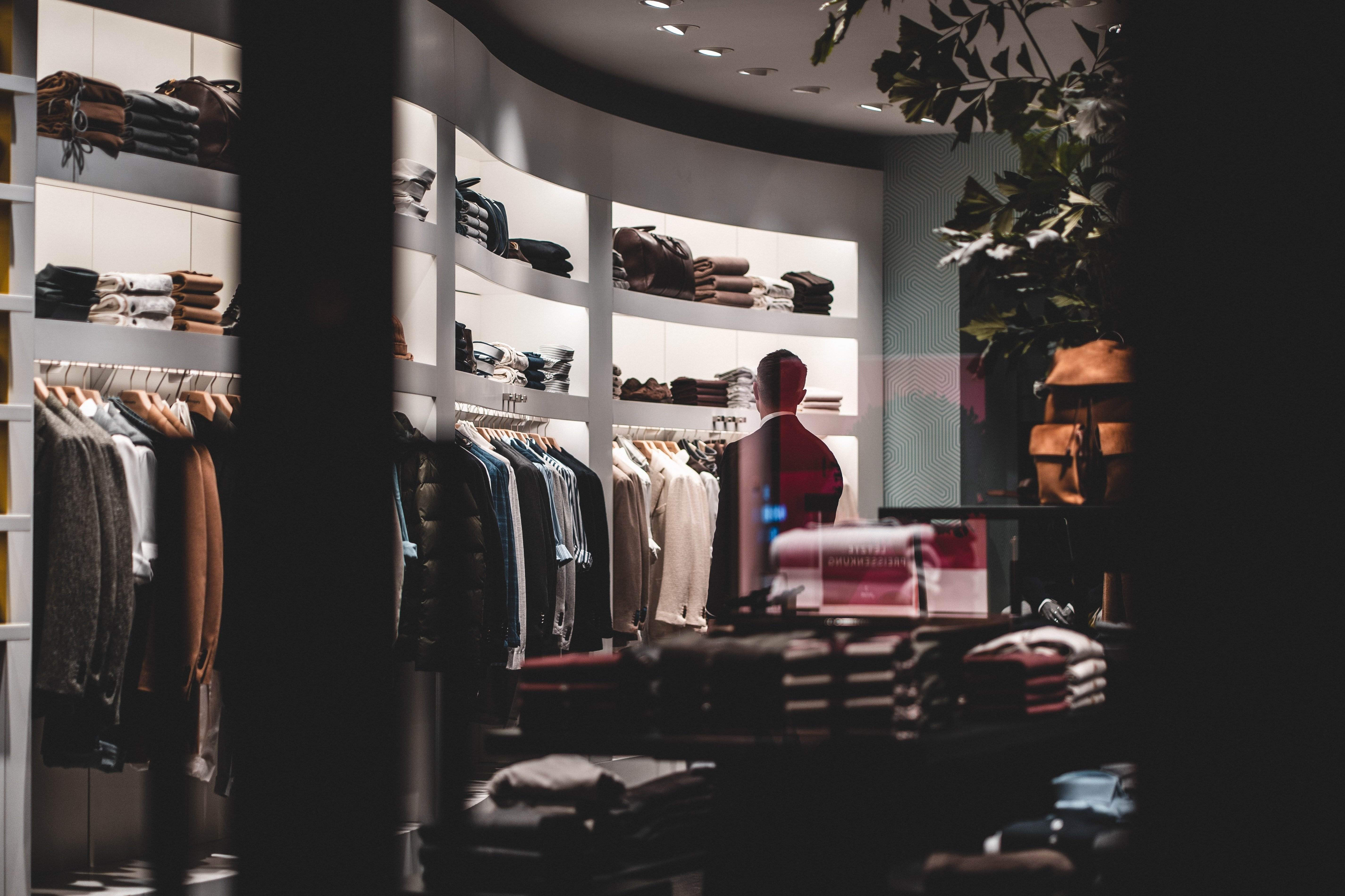 Pictured - A stylish man shopping at a fashion store   Source: Pexels