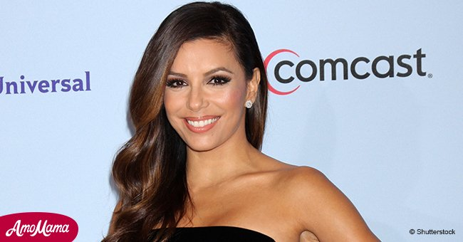 Makeup-free Eva Longoria shares photo of her 1-month-old baby