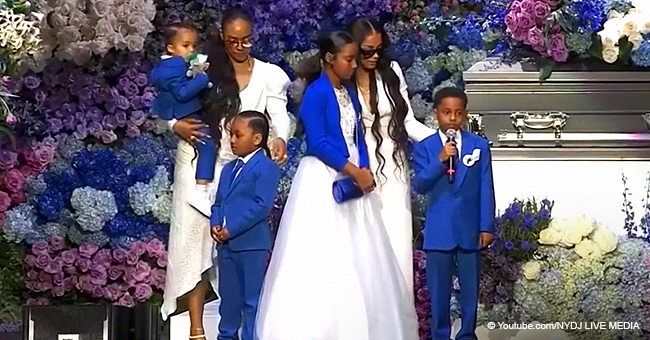 Lauren London Brings Kids Onstage to Pay Tribute to Nipsey Hussle at His Memorial Service (Video)
