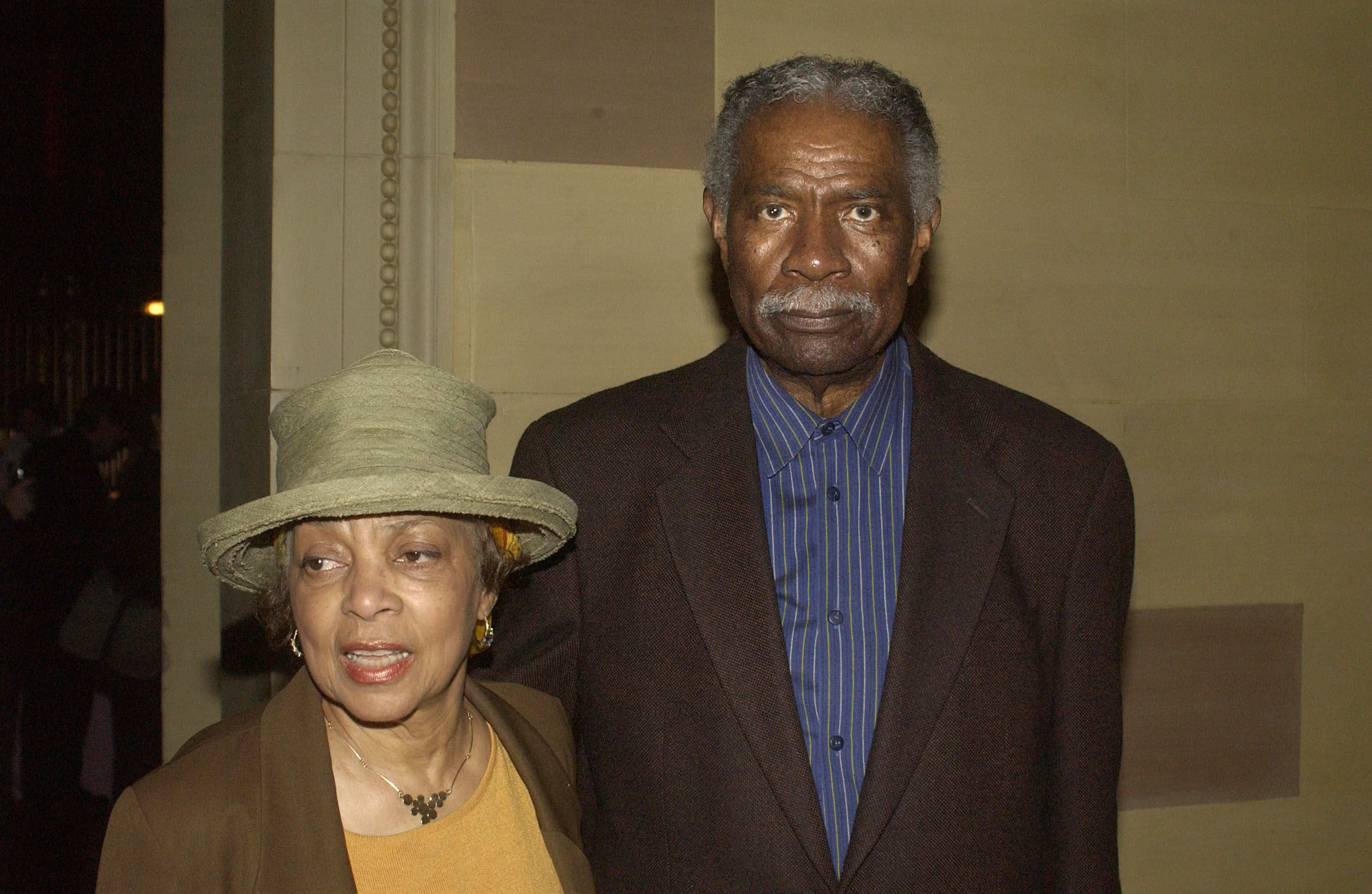"Ruby Dee and Ossie Davis at the after-party for the opening night of ""Caroline or Change"" on May 2, 2004 