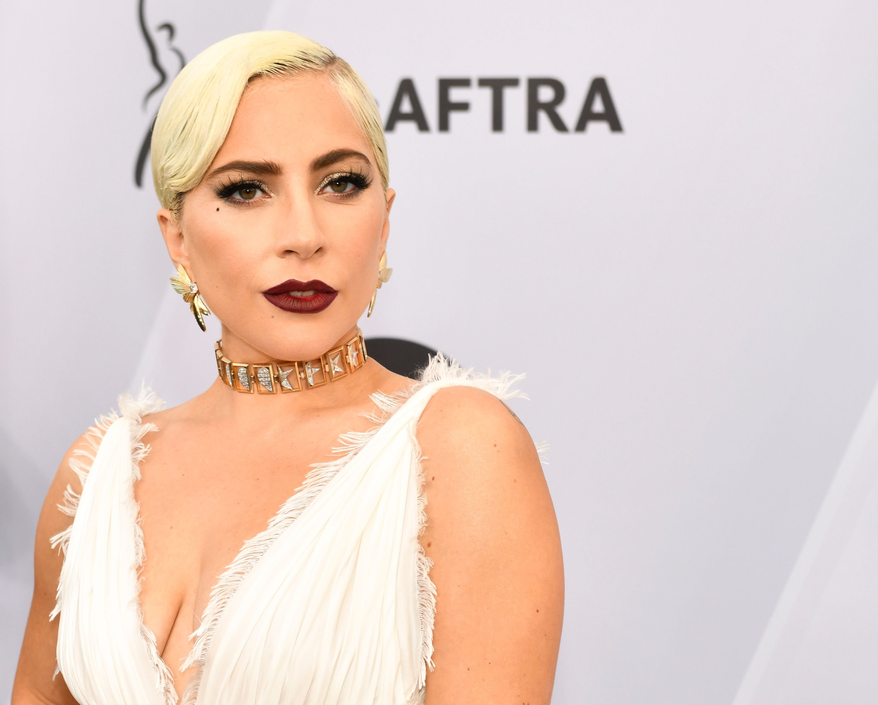 Lady Gaga at the 25th Annual Screen ActorsGuild Awards at The Shrine Auditorium on January 27, 2019 in Los Angeles, California. | Photo: Getty Images
