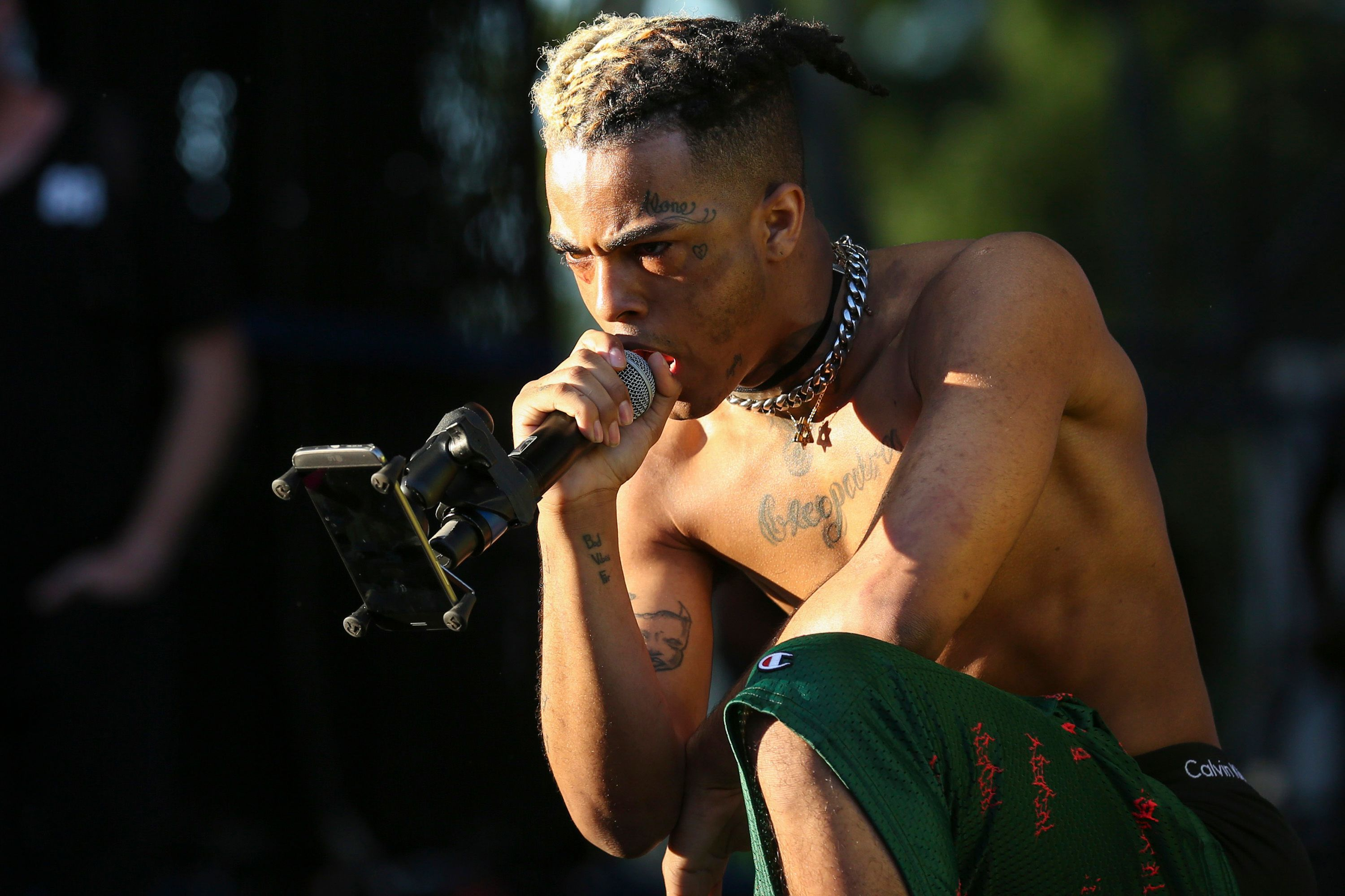 XXXTentacion performs during the second day of the Rolling Loud Festival in downtown Miami on Saturday, May 6, 2017. | Source: Getty Images