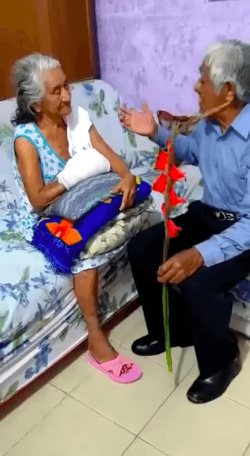 Couple de personnes âgées amoureux / Source: Facebook   Musiquera