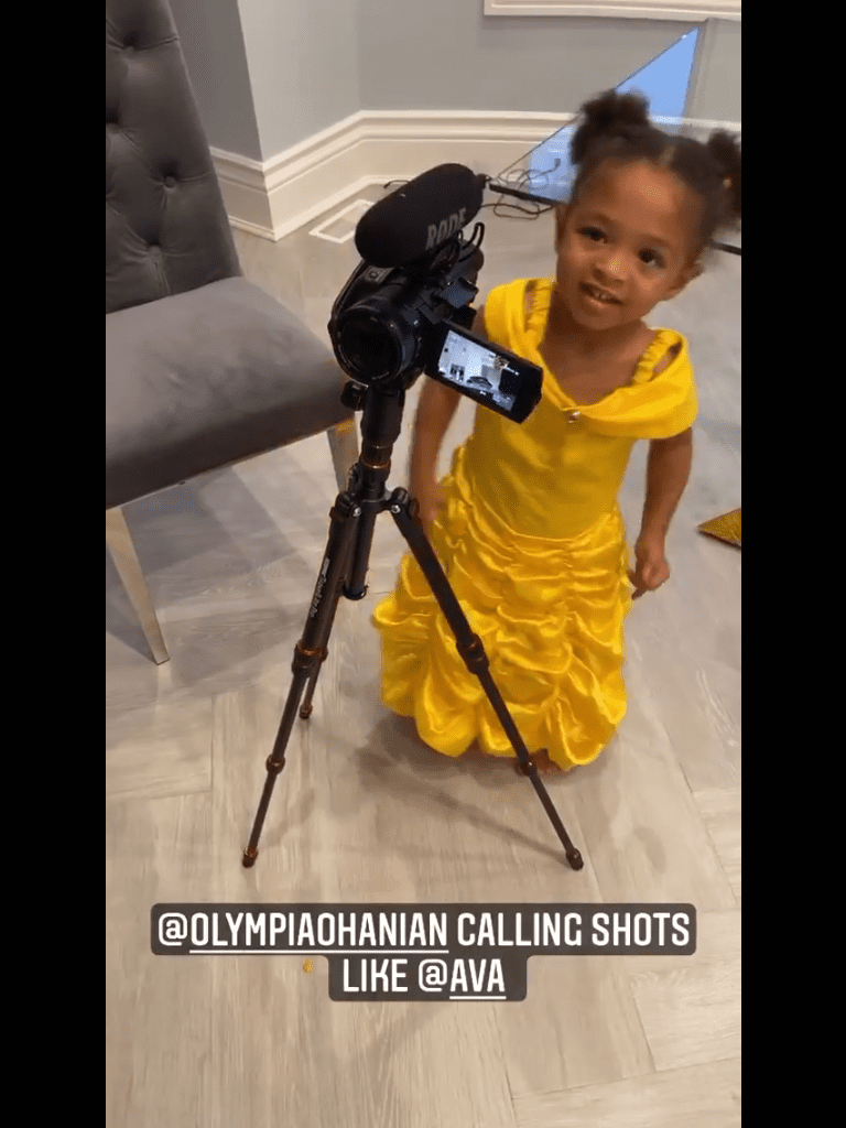 Olympia Ohanian, daughter of Alexis Ohanian and Serena Williams smiling at a camera. | Photo: Instagram/alexisohanian