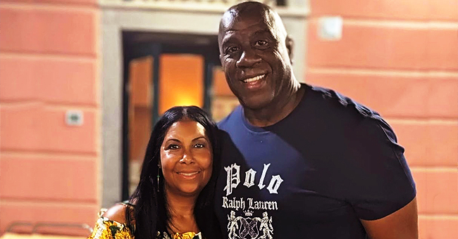 Magic Johnson's Wife Cookie Poses on Yacht in Yellow Summer Dress during Italy Vacation
