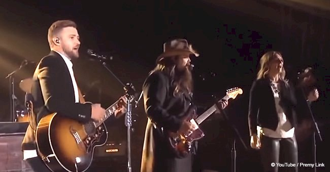 "Remember Chris Stapleton and Justin Timberlake stunning perfomance ""Tennessee Whiskey"""