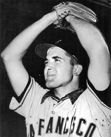 Professional baseball player Mike McCormick in 1961. | Source: Wikimedia Commons.