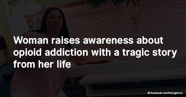 Woman raises awareness about opioid addiction with a tragic story from her life