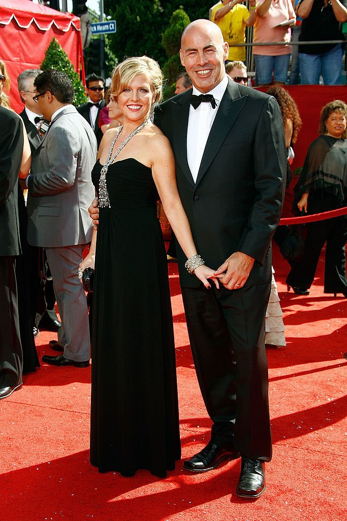 Actress Ashley Jensen and husband Terence Beesley arrive at the 60th Primetime Emmy Awards | Getty Images