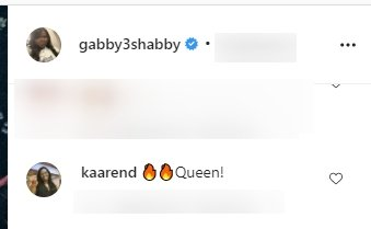 A fan's comment on Gabby Sidibe's picture showing off her Ivy Park wears. | Photo: Instagram/Gabby3shabby