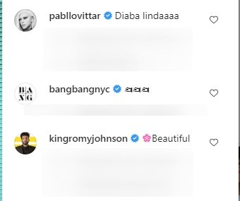 Celebrities' comments under a post made by Kylie Jenner on her Instagram page. | Photo: Instagram/@kyliejenner