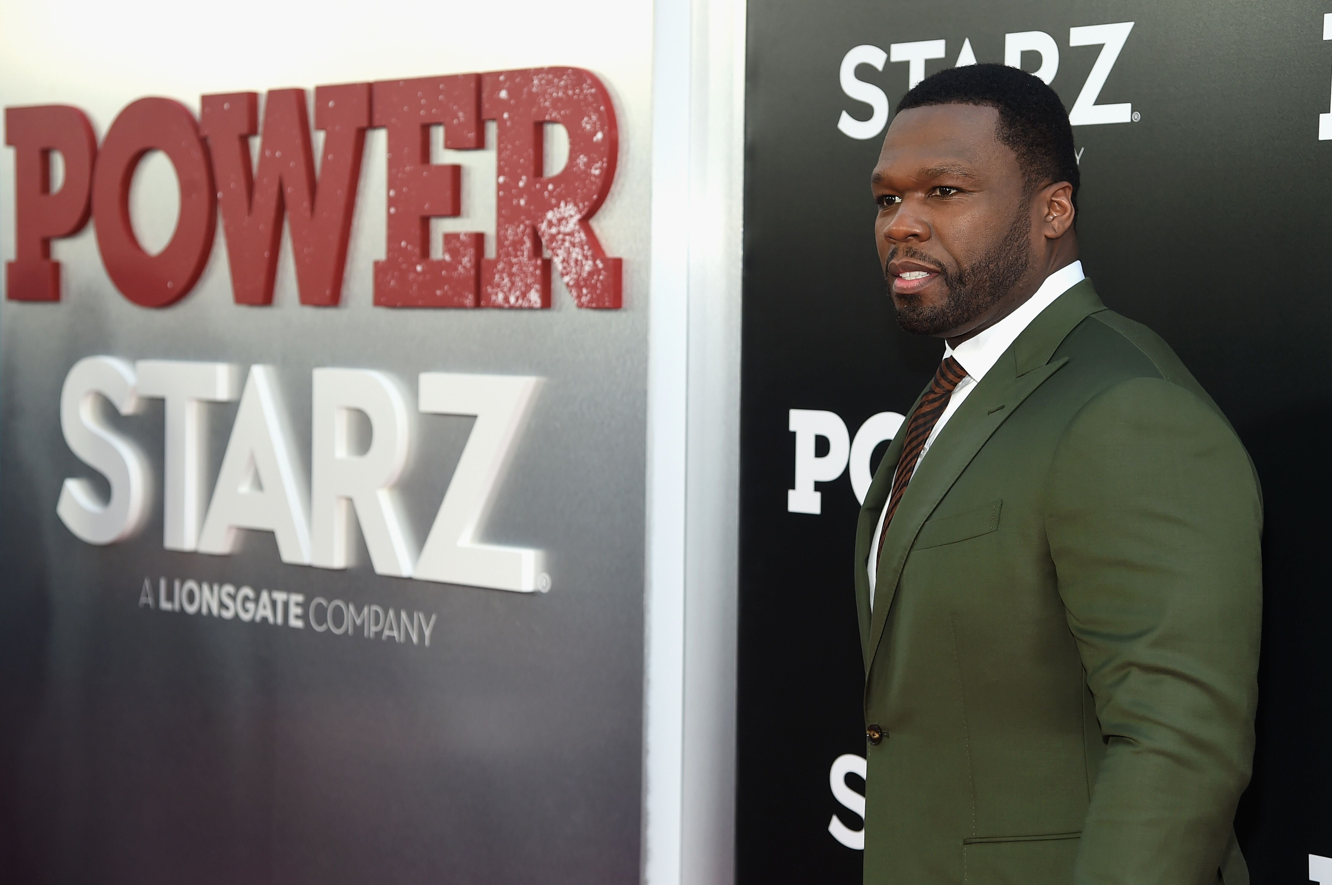 "50 Cent at the premiere for the new season of ""Power Starz""/ Source: Getty Images"