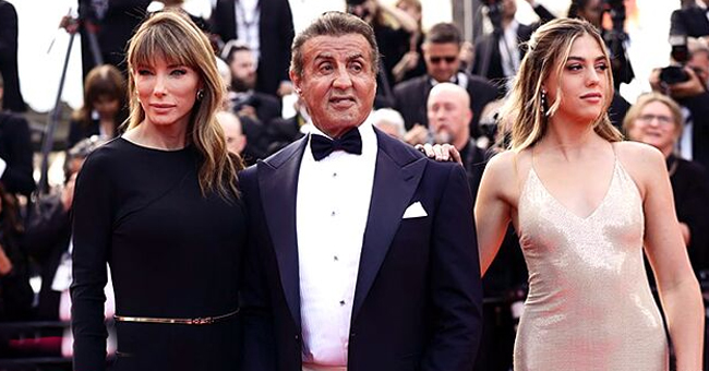 Sylvester Stallone Attends a Special Career Tribute Event in Cannes with Wife Jennifer Flavin & Daughter Sistine