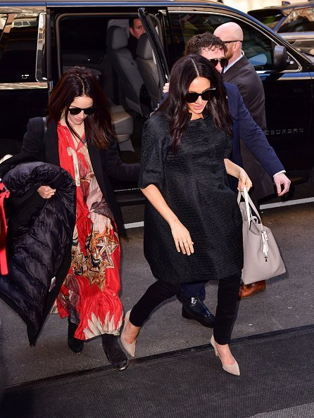 Abigail Spencer and Meghan, Duchess of Sussex seen arriving to The Mark Hotel on February 19, 2019 in New York City | Photo: Getty Images