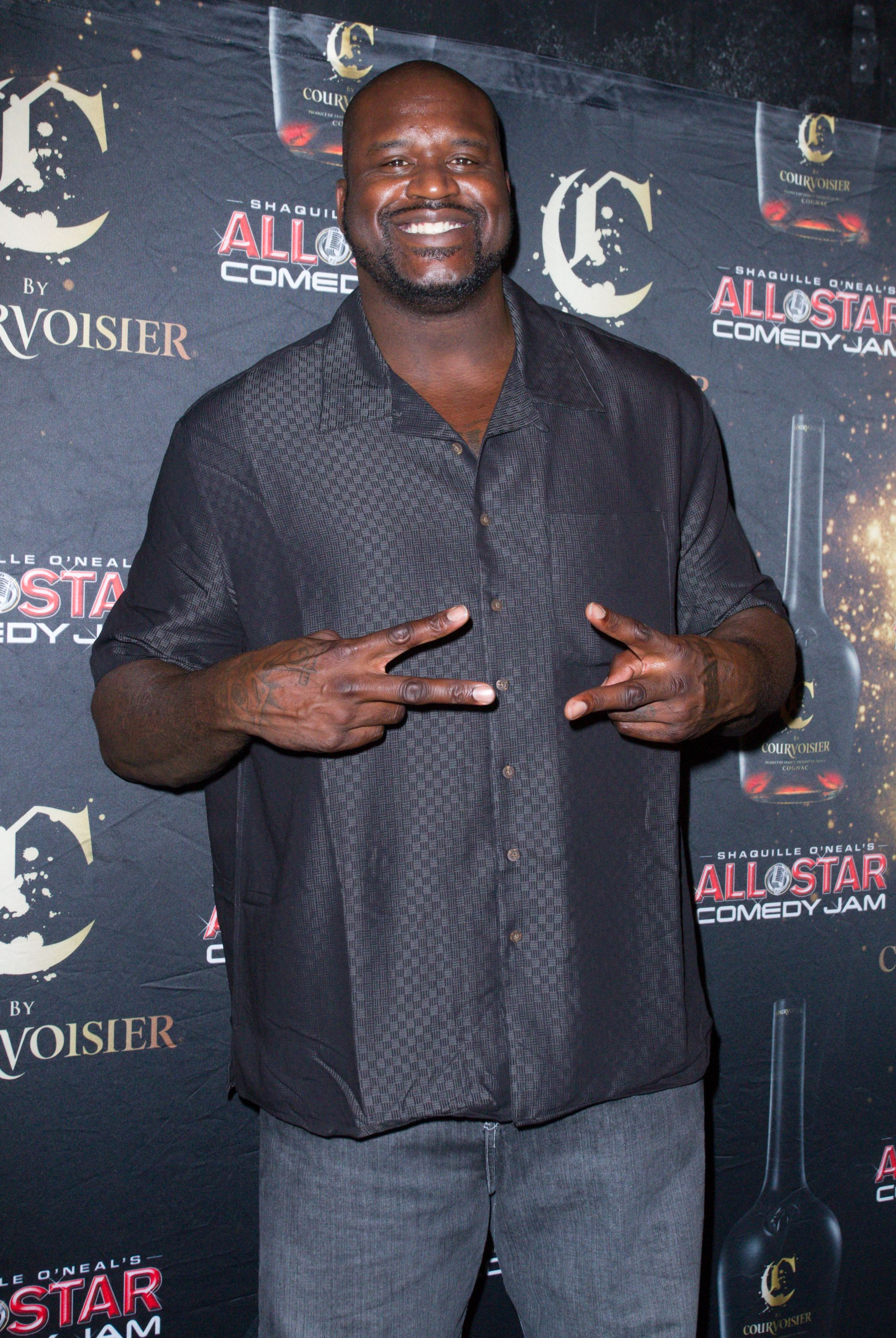 Shaquille O' Neal during the All Star Comedy Jam Holiday Celebration on December 15, 2012 in Miami, Florida.   Source: Getty Images
