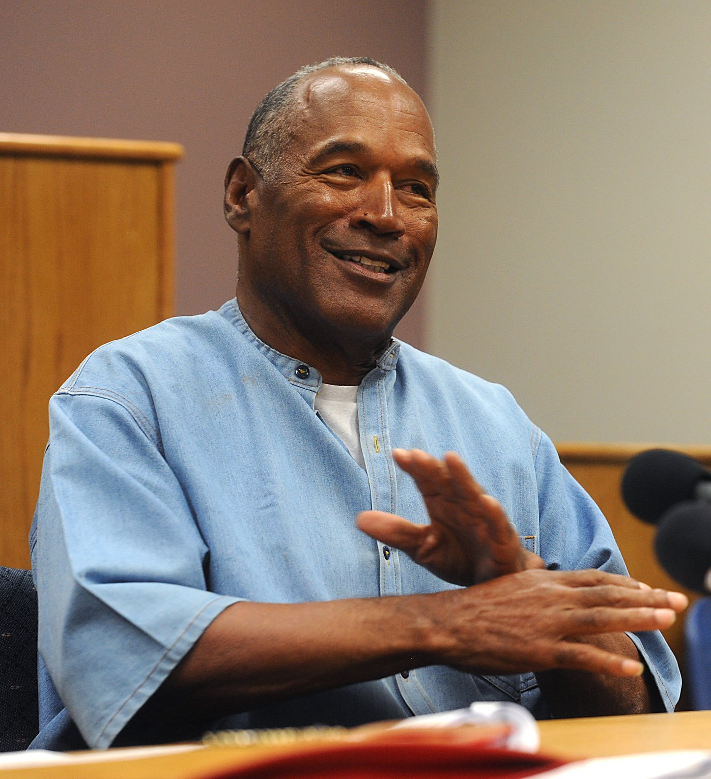 O.J. Simpson after a parole hearing at Lovelock Correctional Center in Lovelock, Nevada, U.S. on July 20, 2017.   Photo: Getty Images