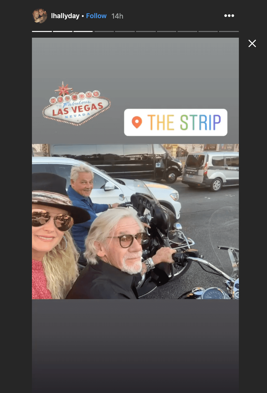 Laeticia hallyday avec les amis de johnny à Las Vegas | Photo : Instagram/lhallyday