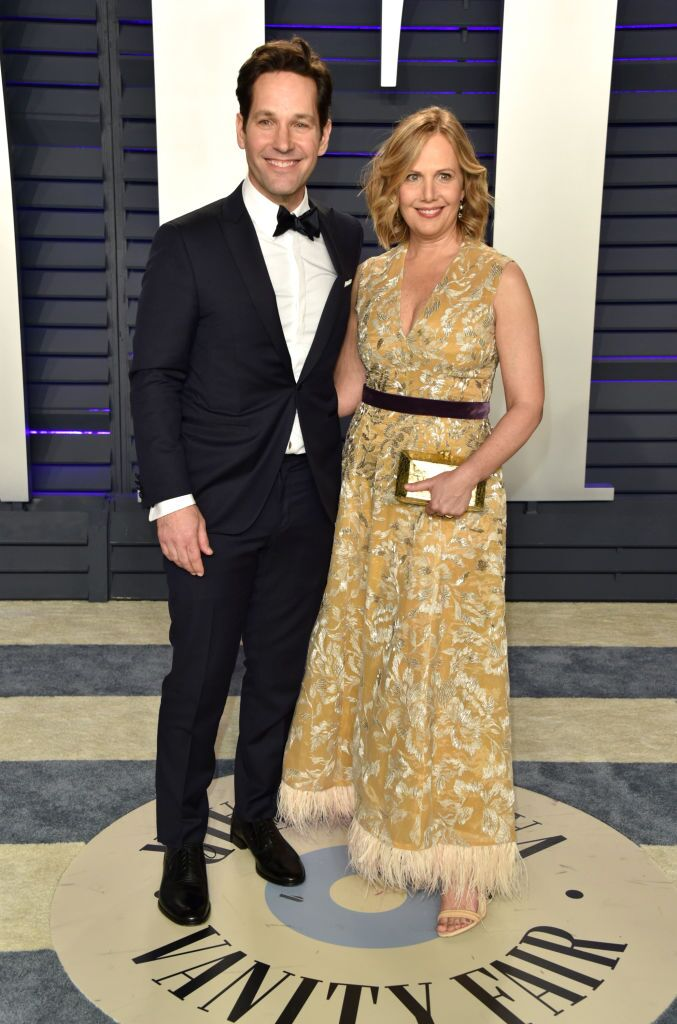 Paul Rudd and Julie Yaeger attend the 2019 Vanity Fair Oscar Party. | Source: Getty Images