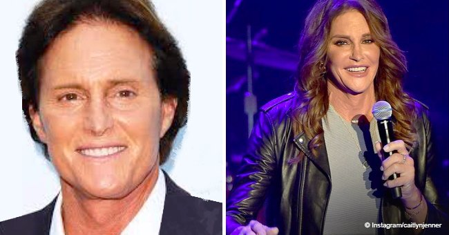 'Be authentic to yourself,' Caitlyn Jenner shares inspirational pics of before & after transition
