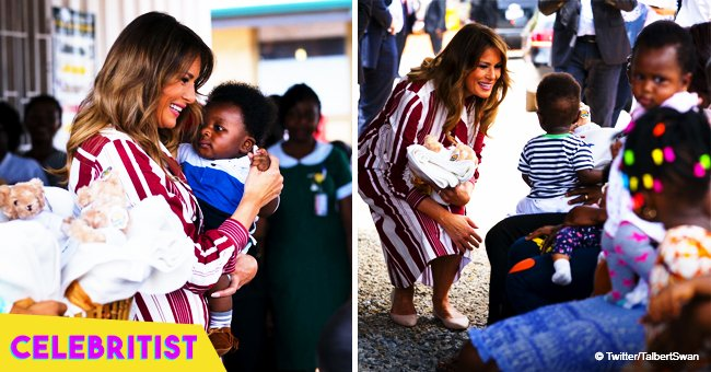 Melania Trump visits former slavery outpost in Ghana on solo Africa tour