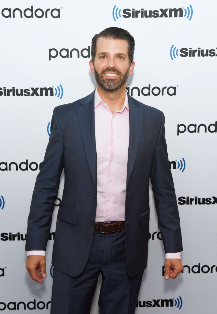 Donald Trump Jr. visits SiriusXM Studios on October 31, 2019 in New York City. | Photo: Getty Images