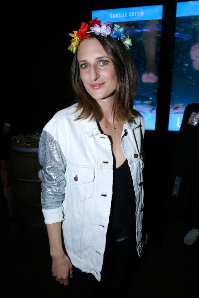 """Camille Cottin assiste aux """"Larguees"""", 12 avril 2018. 