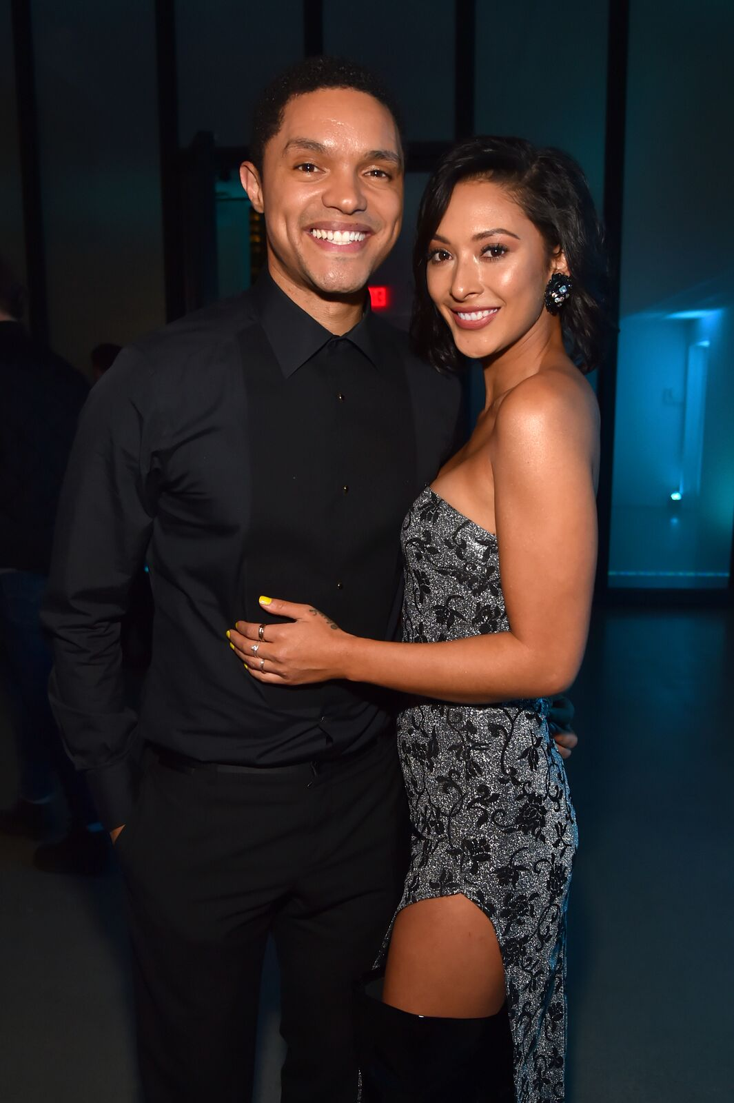 Trevor Noah and Jordyn Taylor at the Universal Music Group's 2018 After Party to celebrate the Grammy Awards in New York | Source: Getty Images