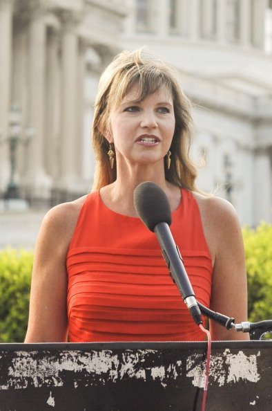 "Missy Robertson from the ""Duck Dynasty"" television show speaks during a press conference to Raise Awareness For Cleft Palate And Lip Treatment at U.S. Capitol House Triangle on July 8th, 2014 