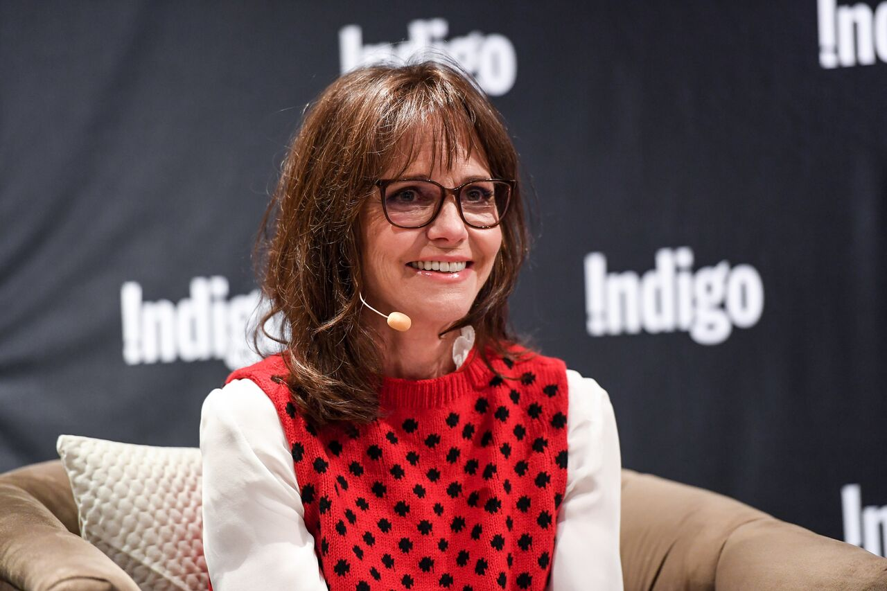 "Sally Field signs copies of her book, ""In Pieces."" 