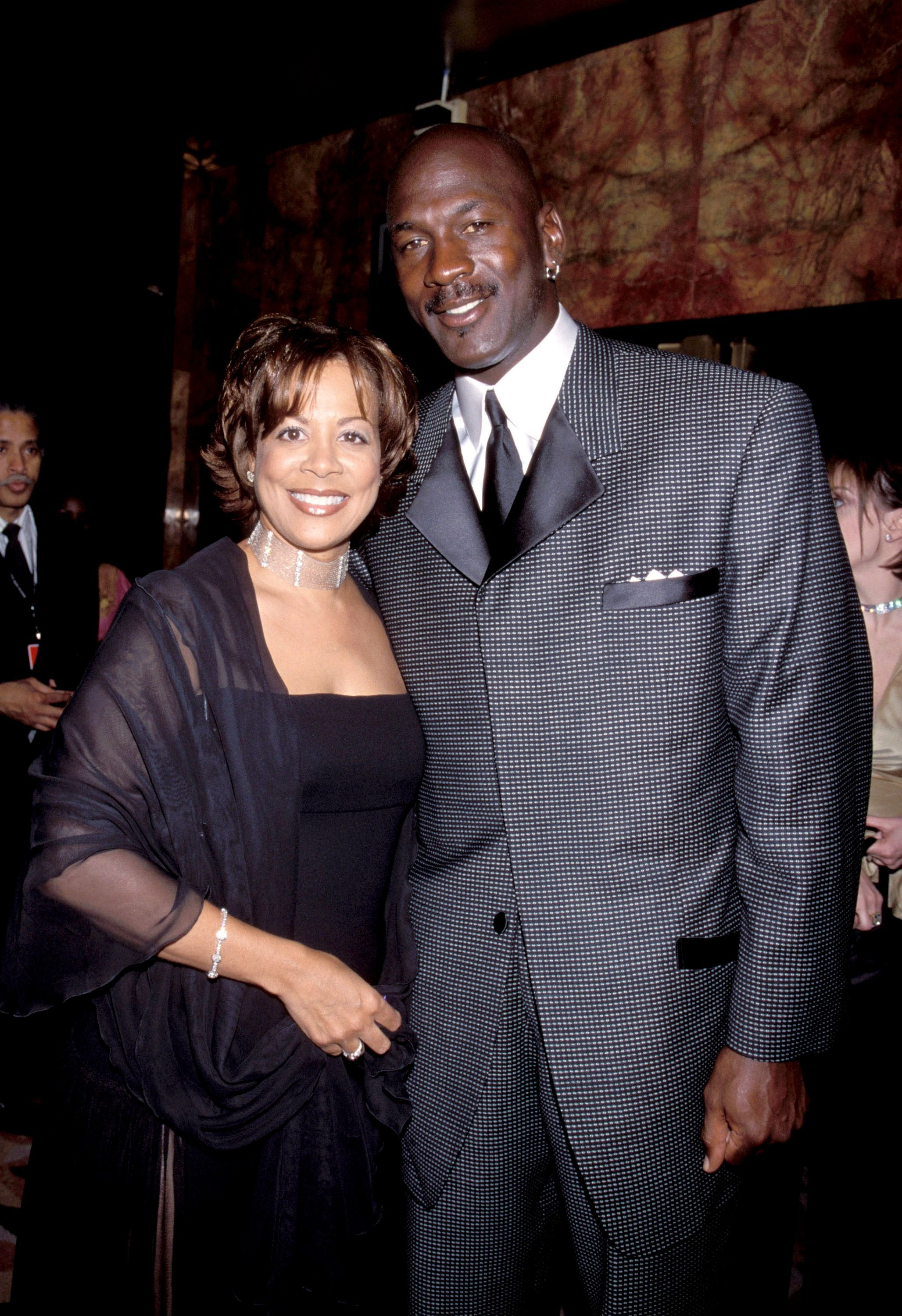 Michael Jordan (right) and Juanita Jordan at the Radio City Music Hall in New York City, New York (Photo by Kevin Mazur/WireImage)