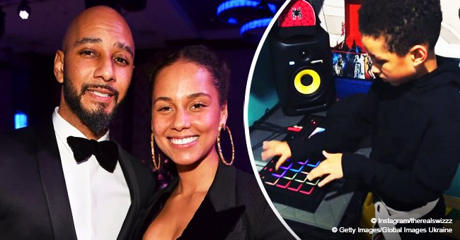 Alicia Keys and Swizz Beatz's son follows in dad's footsteps as he makes beats in recent video