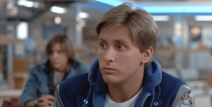 "Emilio Estevez as Andrew Clark in ""The Breakfast Club"" 