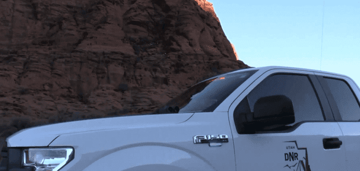 A Utah Division of Wildlife Resources vehicle at the scene | Photo: Fox 13 Salt Lake City