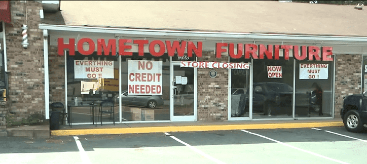Hometown Furniture Shop in Southaven. | Source: YouTube/ WREG News Channel 3