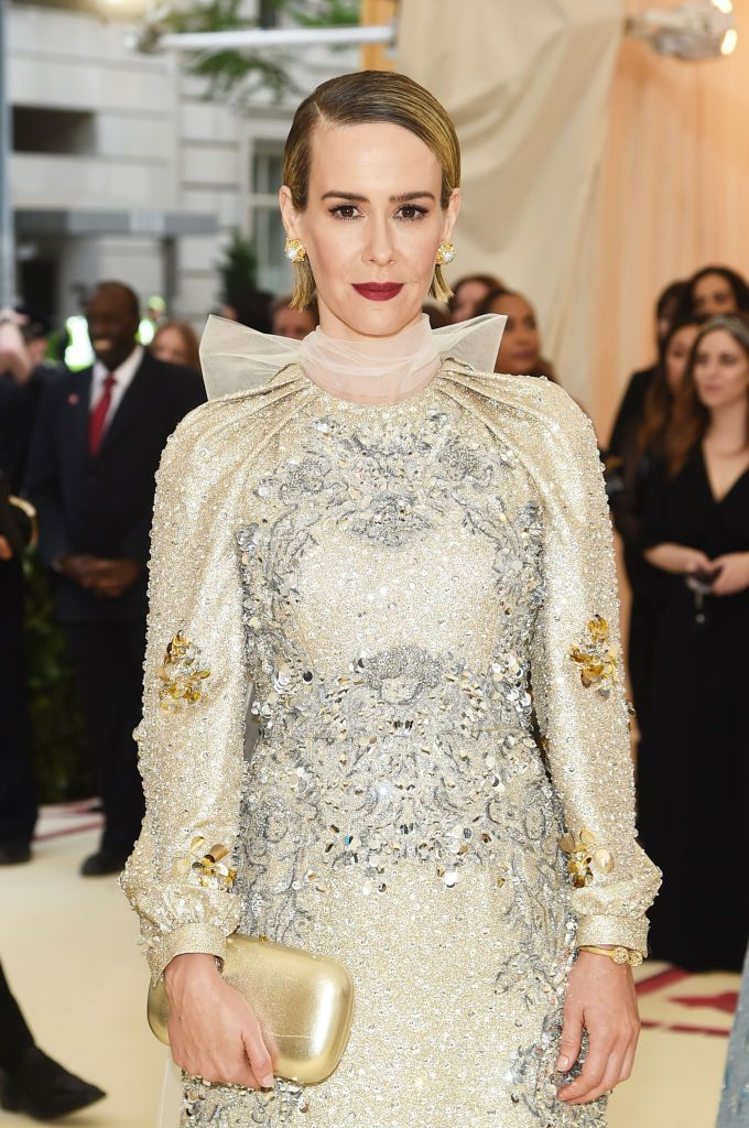 Sarah Paulson attends the Heavenly Bodies: Fashion & The Catholic Imagination Costume Institute Gala at The Metropolitan Museum of Art. | Source: Getty Images