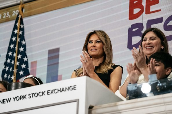 First Lady Melania Trump Rings Opening Bell Of New York Stock Exchange | Photo: Getty Images