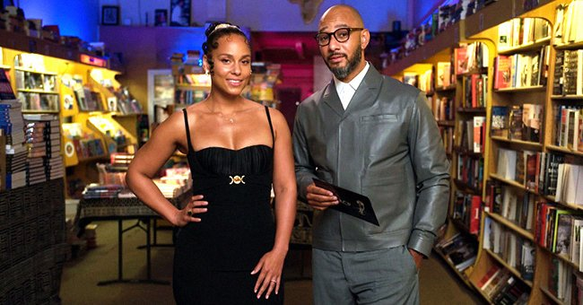 Check Out Alicia Keys Flaunting Her Hourglass Figure in This Form-Fitting Black Slit Dress