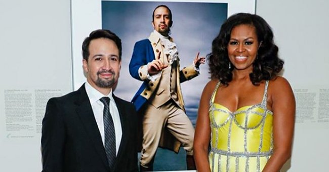 Michelle Obama Presents Lin-Manuel Miranda with Portrait of a Nation Prize at the 2019 American Portrait Gala